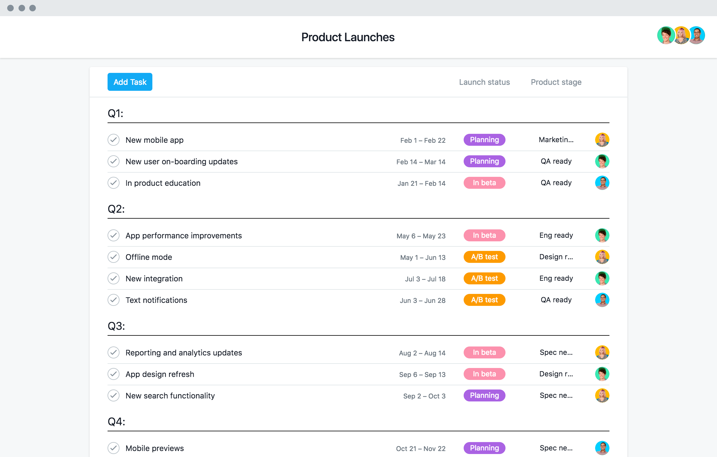 Product Launch Template And Checklist Asana