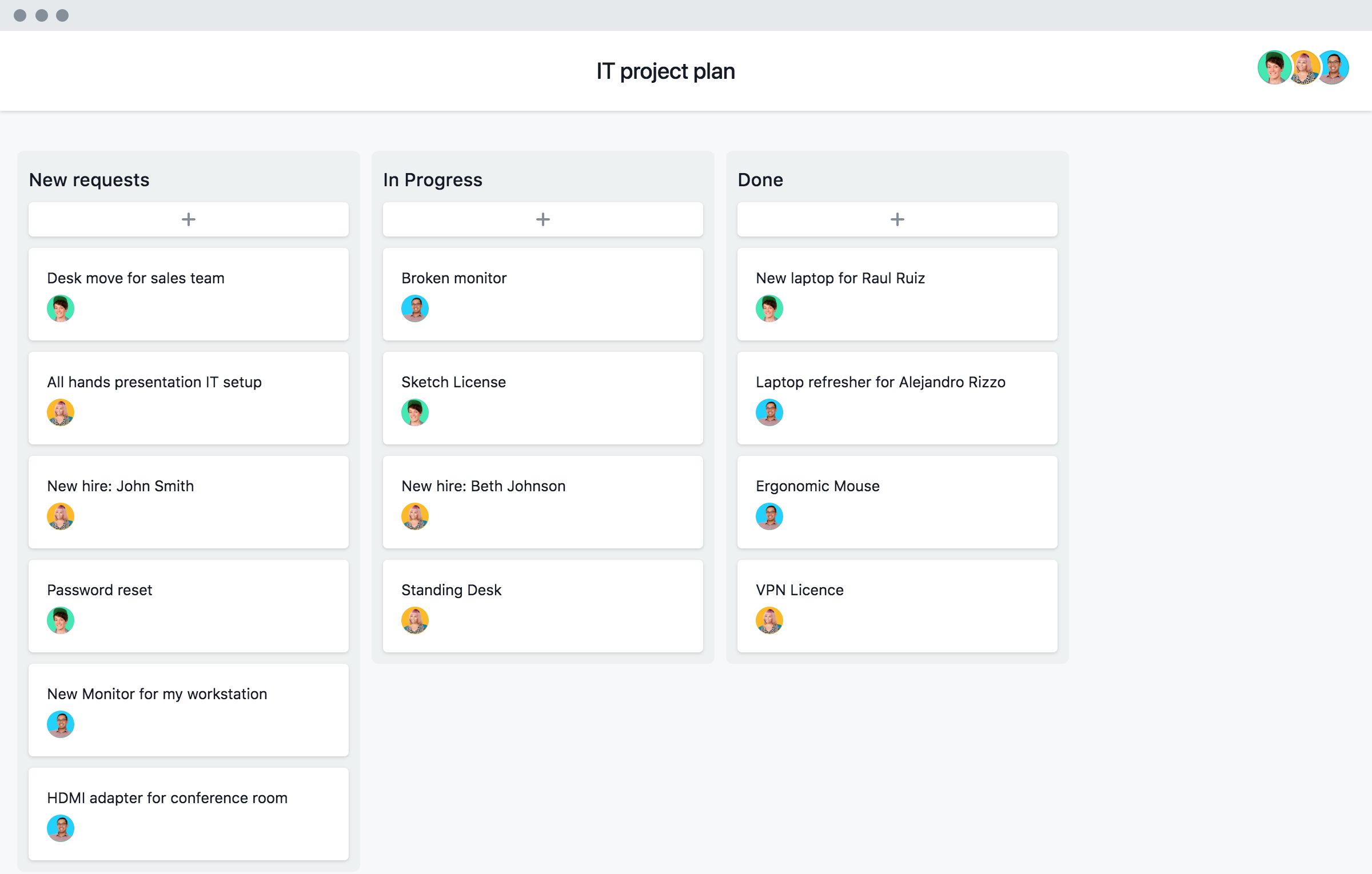 Asana-Vorlagen-Screenshot