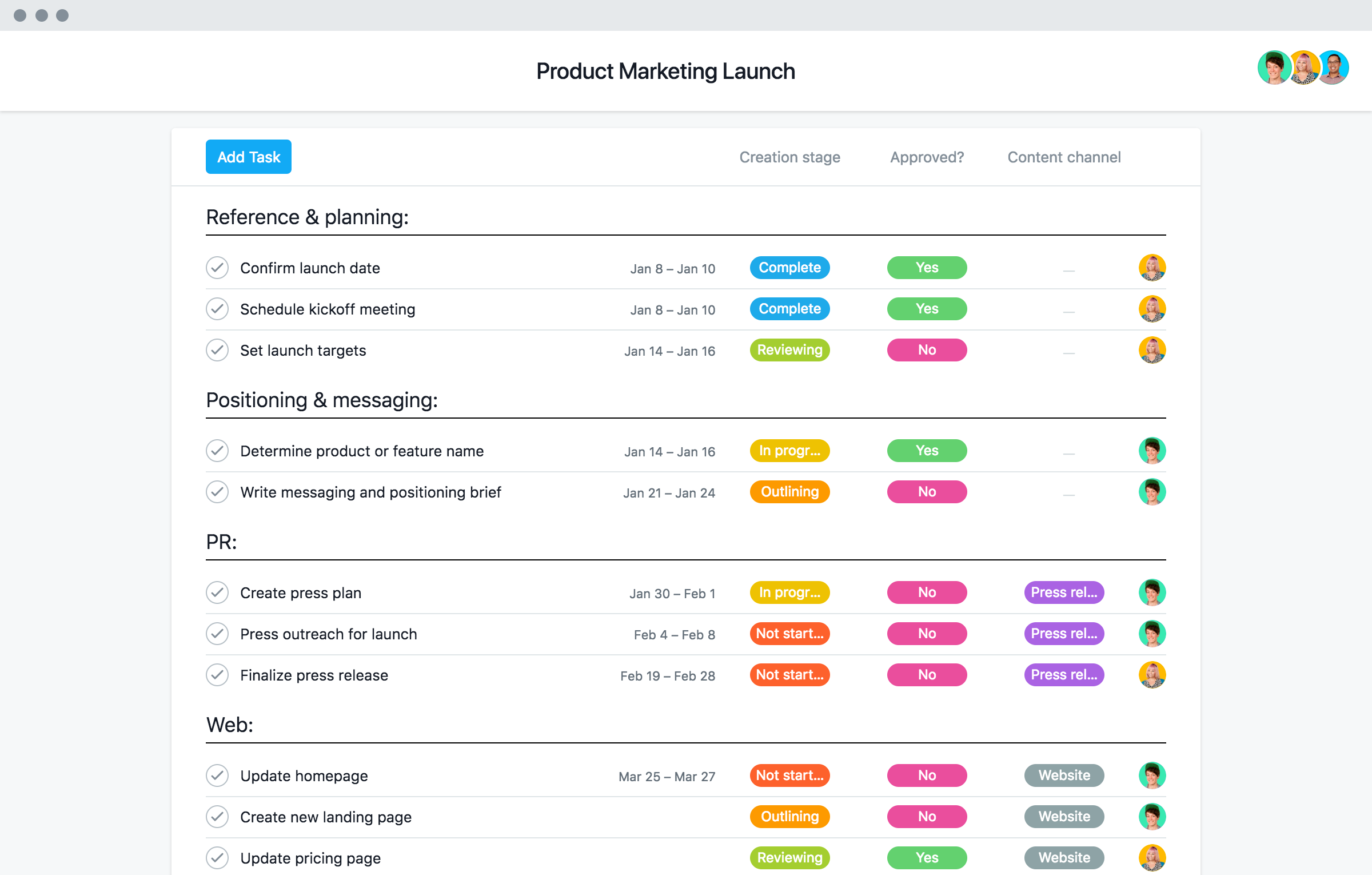 product launch plan template  tips  and examples  u00b7 asana