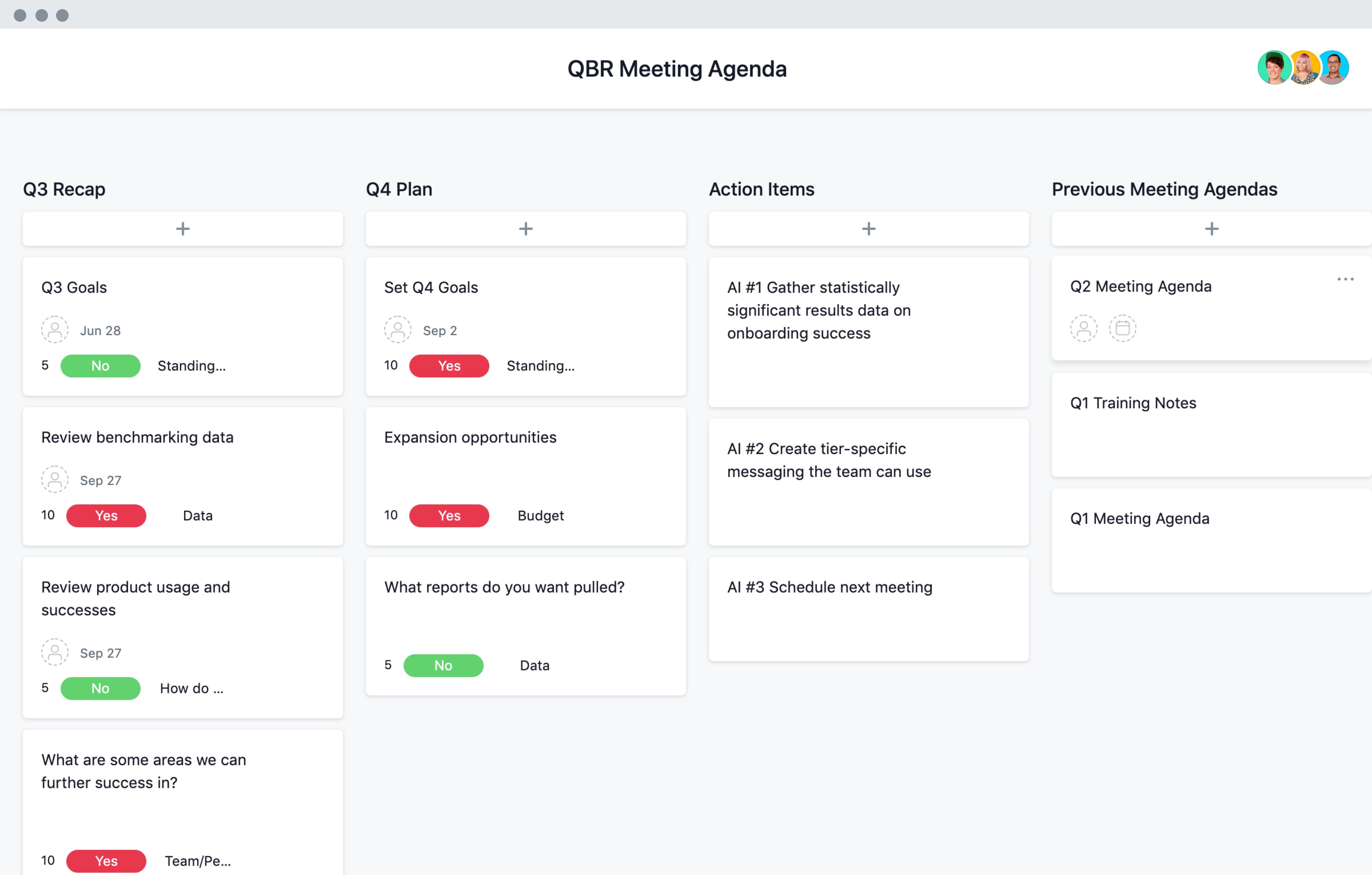 Qbr Quarterly Business Review Template Asana