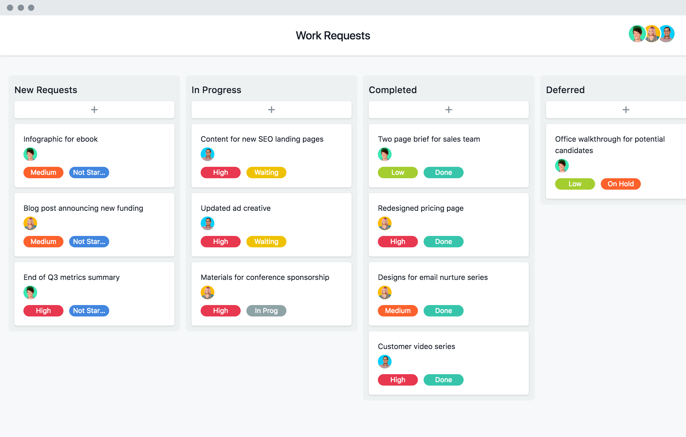 Asana Template Screenshot